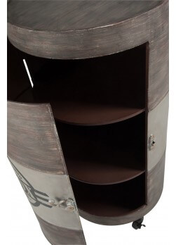 Meuble bar fût d'huile en acier vieilli TOOL BOX