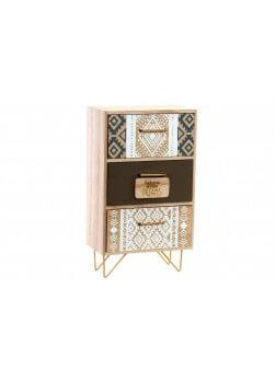 boite de rangement en bois style mini-meuble avec 2 tiroirs de style