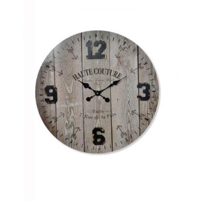 horloge industrielle horloge murale en bois kotecaz. Black Bedroom Furniture Sets. Home Design Ideas
