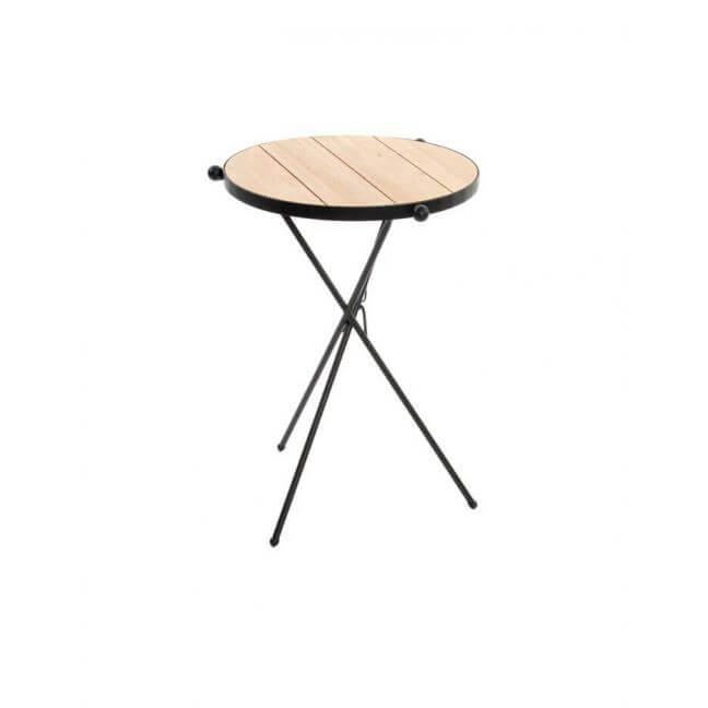 Table basse industrielle ronde bois et m tal - Table basse ronde bois et metal ...