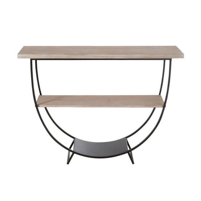 console arc en m tal et bois naturel leers. Black Bedroom Furniture Sets. Home Design Ideas