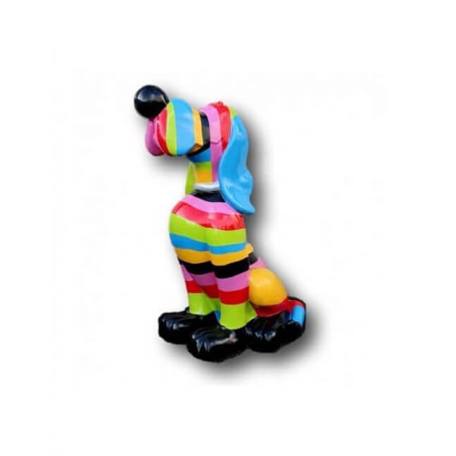 Statue chien en r sine d coration grande taille for Decoration chien resine