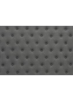 Tête de lit de 140 cm capitonnée en lin de couleur gris anthracite
