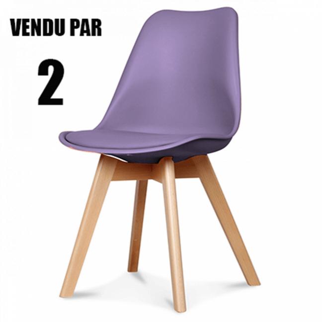 chaise scandinave couleur lilas coque en rsine pieds en bois de htre - Chaise Scandinave Design