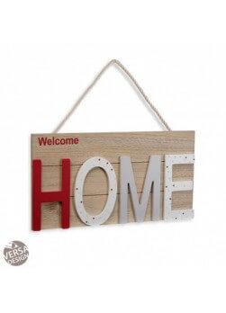 """Plaque en bois décorative avec mot """"Home"""". Collection maison de campagne."""