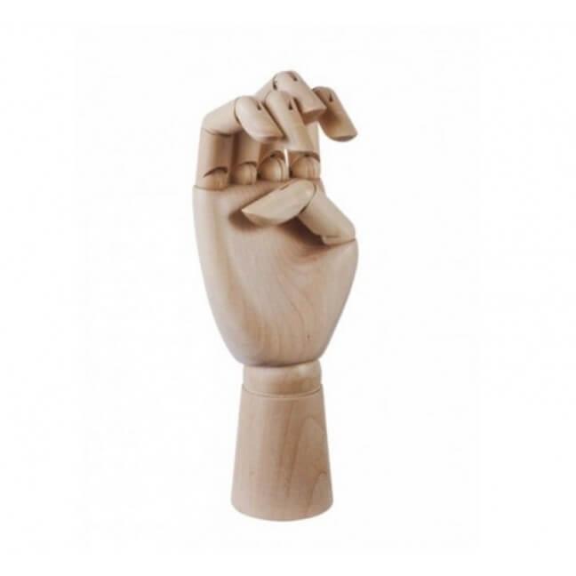 main articulé en bois porte bijoux