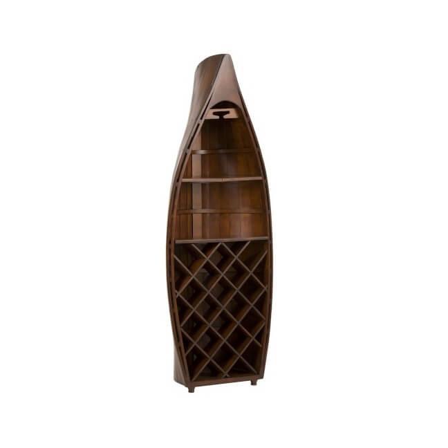 meuble bar bois en forme de bateau
