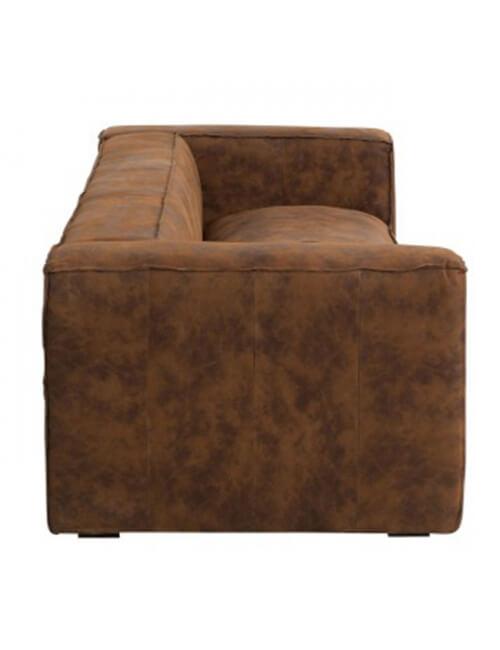 canapé en cuir 3 places en cuir de couleur cognac
