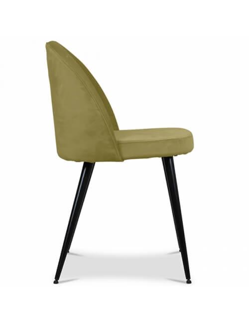 chaise velours vert herbier vendue par 2
