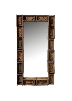 miroir bois, miroir bois recyclé