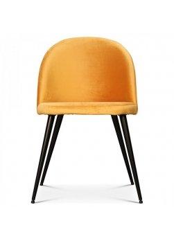 fauteuil scandinave velours miel