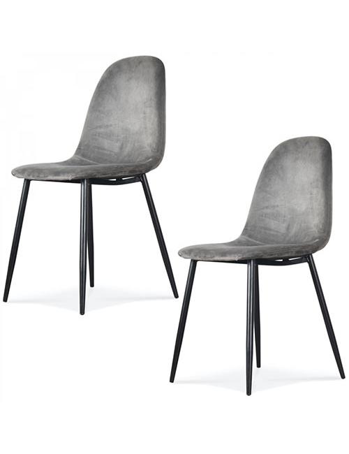 fauteuil scandinave velours gris