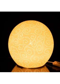 lampe boule porcelaine blanc
