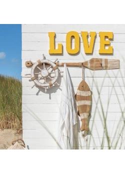 """décoration murale lettre """"love"""" en métal"""