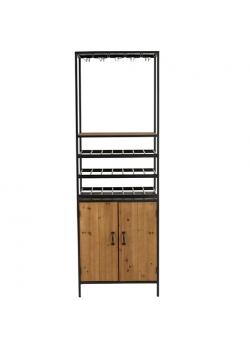armoire style industriel, métal et bois