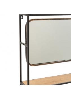 détail miroir étagère