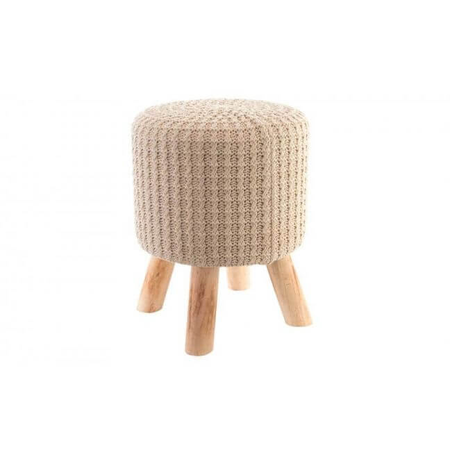 tabouret en bois tabouret scandinave beige. Black Bedroom Furniture Sets. Home Design Ideas