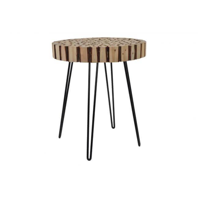 achat table basse ronde en rondin de bois pas cher. Black Bedroom Furniture Sets. Home Design Ideas