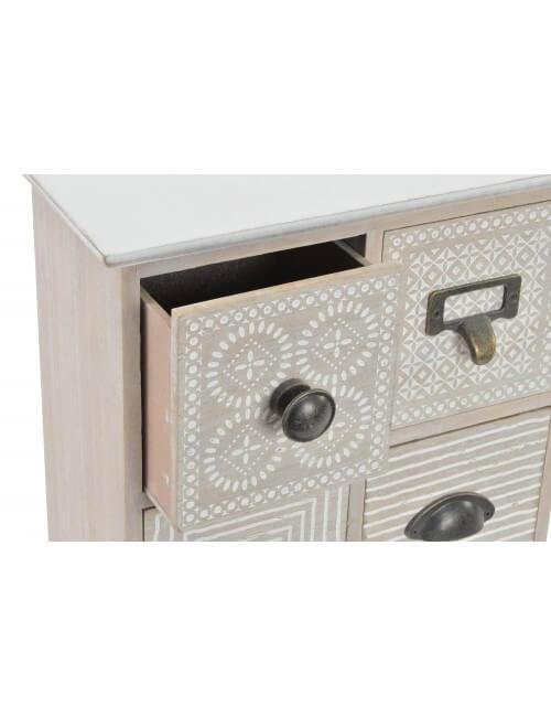bo te de rangement mini meuble style ethnique bois. Black Bedroom Furniture Sets. Home Design Ideas
