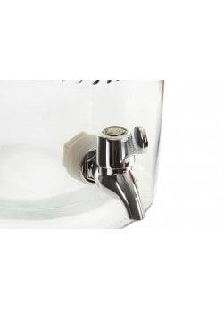 Distributeur de boisson fraîche avec couvercle doré et robinet.Capacité 5 Litres.