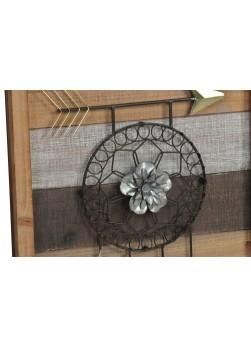 Tableau en bois avec attrape-rêves en fil métallique.3 modèles disponibles.