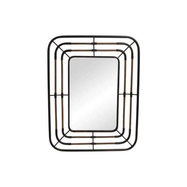 Miroir industriel rectangulaire miroir en m tal et bois for Miroirs grandes dimensions