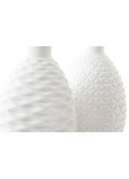 lot de 2 vases en céramique blanc.H15cm.