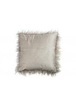 Coussin carré 41X41 cm imitation fausse fourrure en coton,lin,polyester