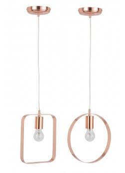 suspension rond m tal cuivr. Black Bedroom Furniture Sets. Home Design Ideas