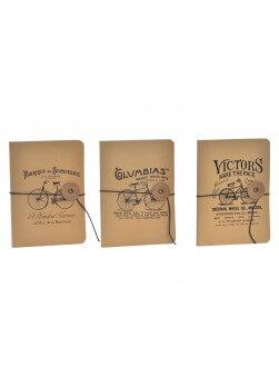 Lot de 3 cahier à dessin style vintage avec 40 pages blanches.